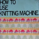 Brother Knitting Machine Instruction Manual for Punchcard models