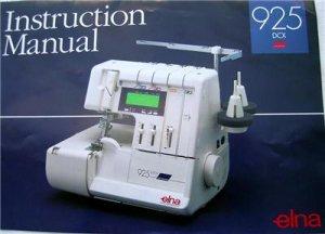 ELNA  925 DCX INSTRUCTION MANUAL  PRO 905 & 904 SERGER