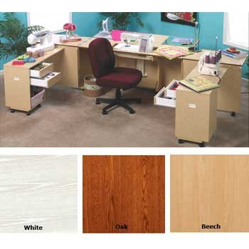 New Perfexion Elite Sewing Cabinets Oak Finish