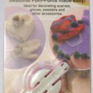 Pom Pom Maker Small - Set of Two1 3/8 & 1 5/8  inch *Clover* -