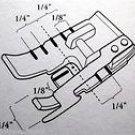 "Viking Husqvarna 1/4"" Metal Edge Stitching Quilting  Foot w/Guide (7) 4129141-46"