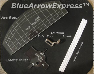 Free Motion Ruler Quilting Presser Foot w/Template for Pfaff Expression, Ambition & Models Listed