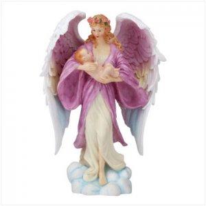 ANGEL CRADLES A BABY BOY