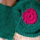 Green-Fushia Dishcloth-Scrubber