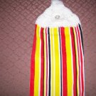 Red/Black/Yellow/White Towel