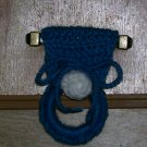 Blue Dishtowel Holder