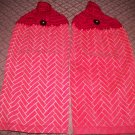 Red/gold zigzag Towel Set