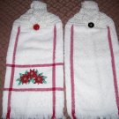 White/red/berrys Towel Set