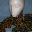 Crocheted Multicolor Ribbon Scarf