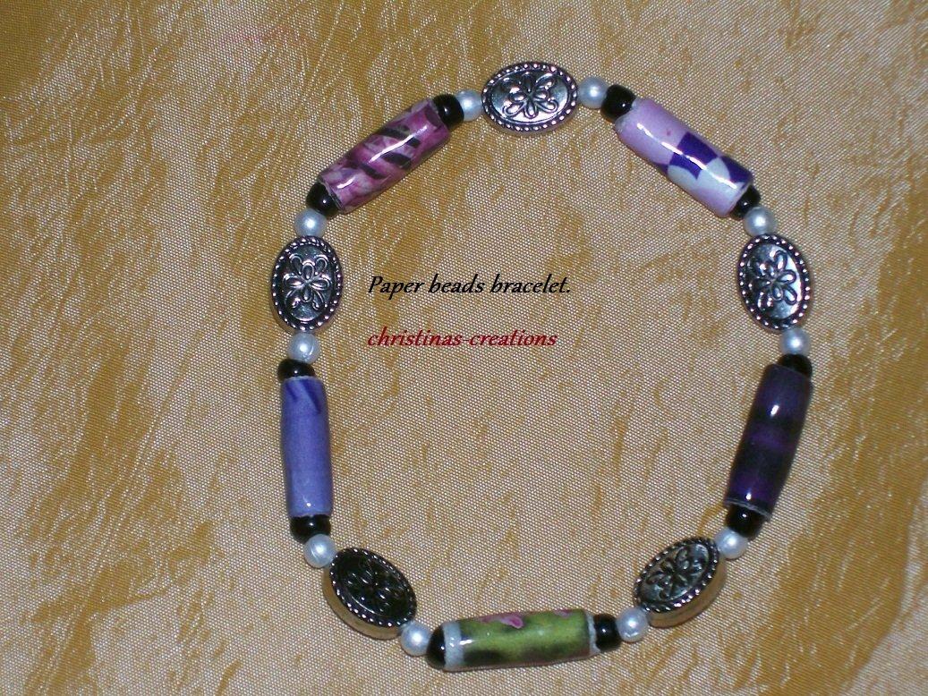 Lovely Purple Beaded Bracelet