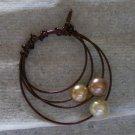 Copper Wire 3 Pearls Pendant