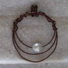Copper Wire 1 Pearl Pendant