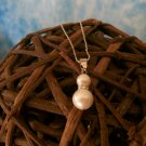 Double Pearl W/crystals & 925 Sterling Silver Necklace