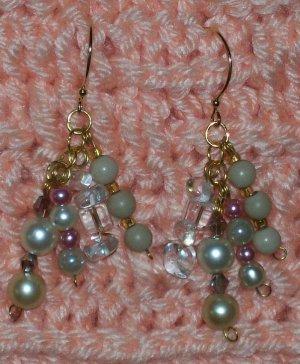Pearl N Ice Earrings
