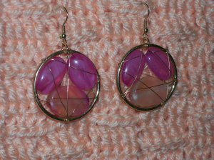 Caged Fushia Earrings