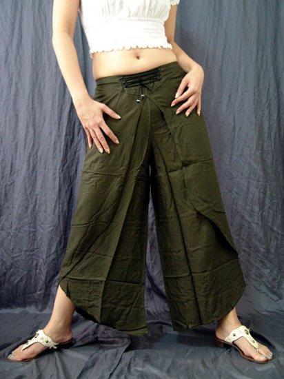 GREEN BELLYDANCE RAYON BOHO GYPSY GENIE HAREM PANTS