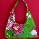 GREEN SMALL BOHO SAKURA FLORAL SHOULDER HANDBAG PURSE