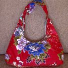 RED SMALL BOHO SAKURA FLORAL SHOULDER HANDBAG PURSE