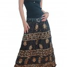 BLACK GYPSY BOHO FLORAL SEQUINS LONG SKIRT/TUBE DRESS