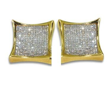 Diamond Earrings - Invisible Setting Square Earrings