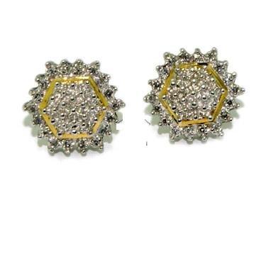 Diamonds Earrings - Invisible White Diamond Earrings