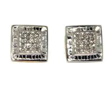 Diamond Earrings - Invisible White Diamond Earrings