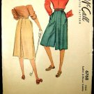 Vintage 40's McCall Sewing Pattern 6768 Womens Culottes Waist Size 28 Hip Size 37 CUT