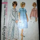 Vintage 1960's Simplicity Sewing Pattern 5193 Womens Nightgown Bed Jacket Size 16 CUT