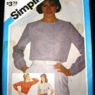 Vintage 1980's Simplicity Sewing Pattern 6465 Womans Long or Short Sleeve Blouse Size 16 CUT