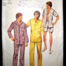 Vintage 70's Simplicity Sewing Pattern 5946 Mens PJs Pajamas and Night Shirt Size Large 42 - 44 CUT