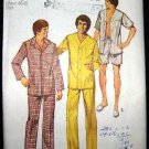 Vintage 70's Simplicity Sewing Pattern 5946 Mens PJs Pajamas and Night Shirt Size X Large 46-48 CUT