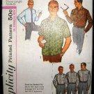 Vintage 1960's Simplicity Sewing Pattern 5029 Mens Dress Shirt Neck 15 1/2 CUT