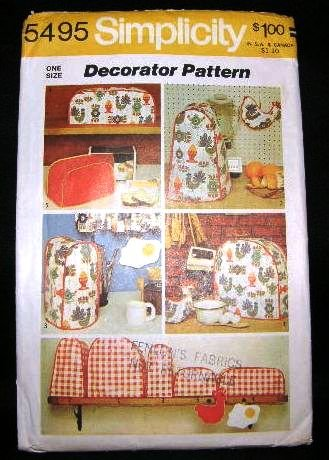 Vintage 1970's Simplicity Sewing Designer Pattern 5495 Pot Holder Assorted Appliance Cover CUT
