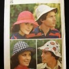 Vintage 70's Simplicity Sewing Pattern 6250 Fisherman Sunhat Brim Mens Womens One Size Fits All CUT