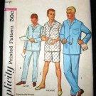 Vintage 1960's Simplicity Mens Sewing Pattern 4007 PJ's Pajamas Size Large 42 - 44 UNCUT