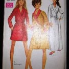 Vintage 1960's Simplicity 7930 Housecoat Robe Tie Front 3 Lengths Size 16 - 18 UNCUT