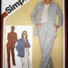 Vintage 1980's Simplicity Sewing Pattern 9770 Suit Jacket Pants Skirt Size 16 UNCUT