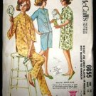 Vintage 1960's McCalls Sewing Pattern 6655 Womens Pajamas Nightgown Size 16 CUT