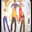 Vintage 1980's McCalls Sewing Pattern 7184 Pants Slacks Size 16