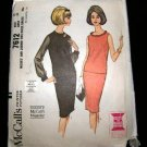 Vintage 1960's McCalls Easy Sewing Pattern 7612 Two Piece Dress Size 12 UNCUT