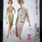 Vintage 1960's McCalls Sewing Pattern 6840 Suit Skirt Jacket Over Blouse Plus Size 18 UNCUT