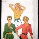 Vintage 1970's Butterick Sewing Pattern 6762 Blouse Size 16 UNCUT