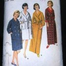 Vintage 1960's Butterick 3256 Front Tie Housecoat Robe Pattern 3256 Size 14 UNCUT