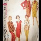 Vintage 1960's Simplicity Sewing Pattern 5574 Blouse Jumper Top Skirt Pants Size 12 CUT