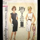 Vintage 1960's Simplicity Jiffy Sewing Pattern 4429 Dress Size 12 CUT