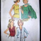 Vintage 1970's Simplicity Stretch Knit Sewing Pattern 5584 Cardigan Top Plus Size 18 UNCUT