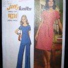 Vintage 1970's Simplicity Jiffy Knits Pattern 5556 Dress Tunic Pants Size 12 UNCUT