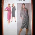 Vintage 1970's Simplicity Sewing Pattern 9330 Long or Short Sleeve Slim Dress Sizes 6 - 8 UNCUT