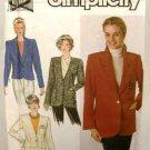 1990's Simplicity Sewing Pattern 9874 Short or Long Jacket Plus Size 16 - 24 UNCUT