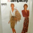 1990's Simplicity Sewing Pattern 9825 Long or Short Wrap Skirt and Sash Size 10 - 20 Plus UNCUT
